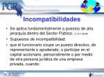 incompatibilidades