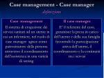 case management case manager definizione