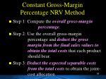 constant gross margin percentage nrv method