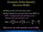 economic order quantity decision model1