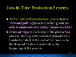 just in time production systems
