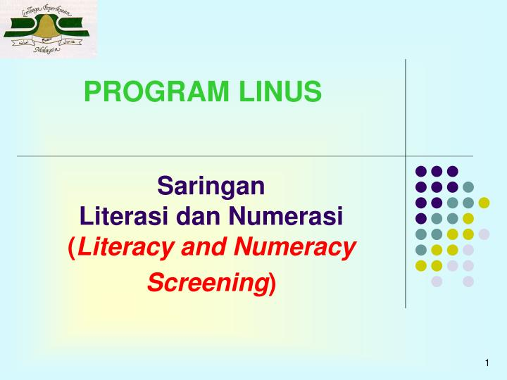 saringan literasi dan numerasi literacy and numeracy screening n.