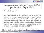 recuperaci n de cr ditos fiscales de iva por actividad exportadora7