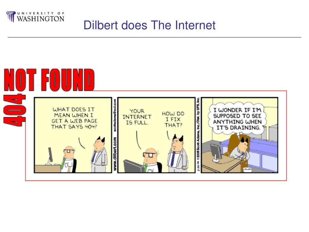 Dilbert does The Internet