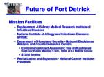 future of fort detrick