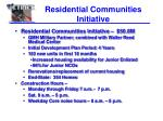 residential communities initiative