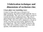3 fabrication technique and dimensions of occlusion rim