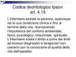 codice deontologico ipasvi art 4 15