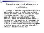 comunicazione di dati all interessato legge privacy d lgs 193 2006 art 841