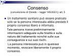 consenso convenzione di oviedo legge 145 2001 art 5