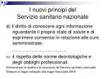 i nuovi principi del servizio sanitario nazionale1