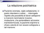 la relazione psichiatrica