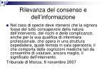rilevanza del consenso e dell informazione1