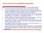marco normativo de la estabilidad presupuestaria