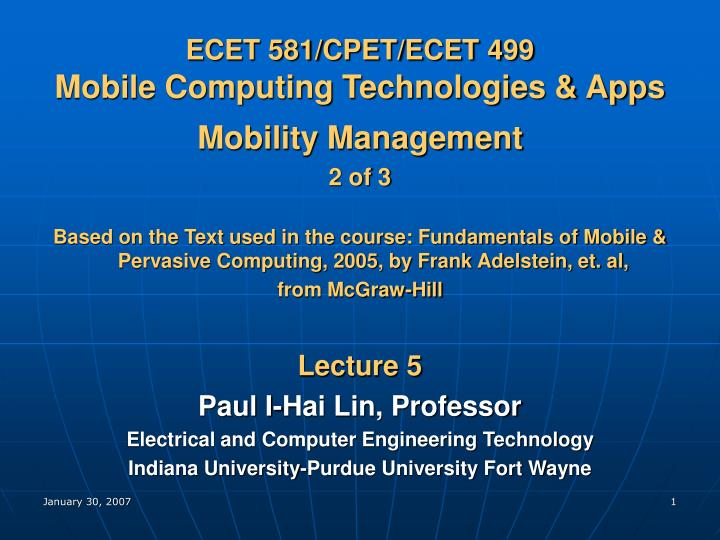 ecet 581 cpet ecet 499 mobile computing technologies apps n.