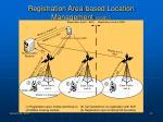 registration area based location management cont