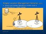 simple location management scheme cont
