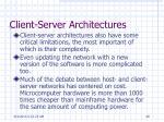 client server architectures1