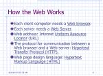 how the web works1
