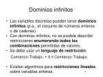 dominios infinitos