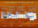 a brief history of microsoft com