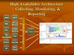 high availability architecture collecting monitoring reporting