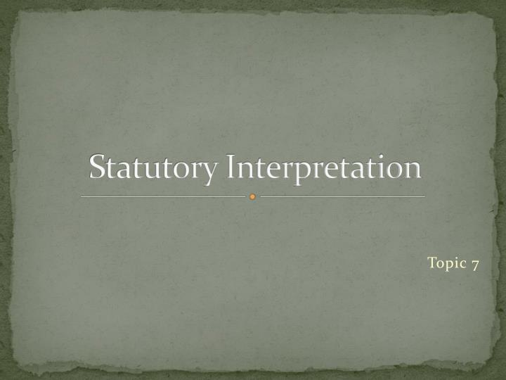 statutory interpretation n.