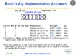 booth s alg implementation approach