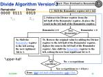 divide algorithm version 3