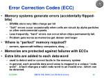 error correction codes ecc