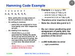 hamming code example