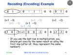 recoding encoding example