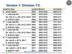 version 1 division 7 2