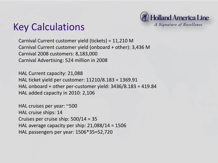 Key Calculations