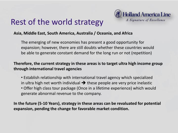 Rest of the world strategy