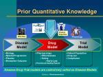 prior quantitative knowledge