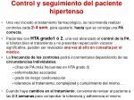 control y seguimiento del paciente hipertenso