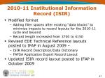2010 11 institutional information record isir