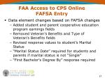 faa access to cps online fafsa entry