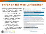 fafsa on the web confirmation