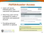 fafsa4caster access