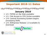 important 2010 11 dates2