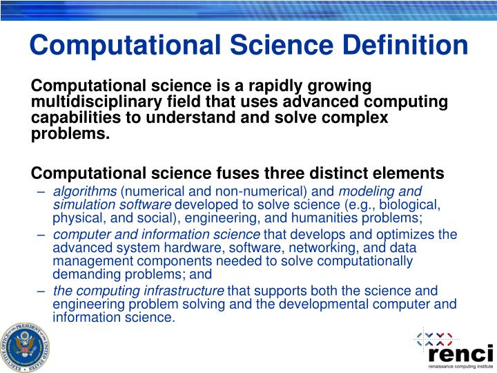 Computational Science Definition