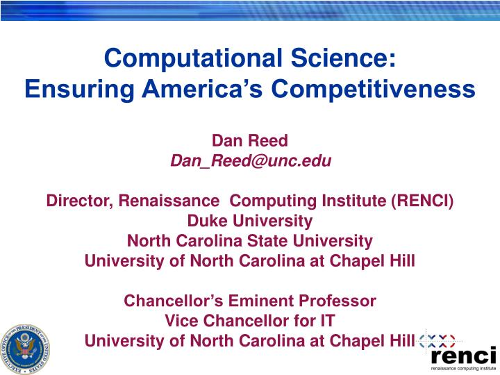 Computational science ensuring america s competitiveness
