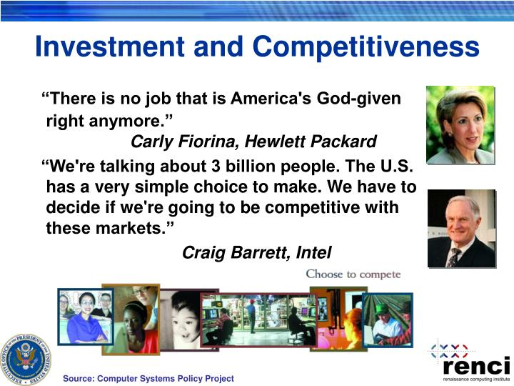 Investment and Competitiveness