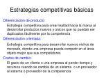 estrategias competitivas b sicas