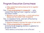 program execution correctness