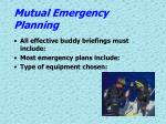mutual emergency planning