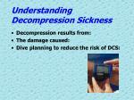 understanding decompression sickness