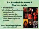 lei estadual de acesso biodiversidade